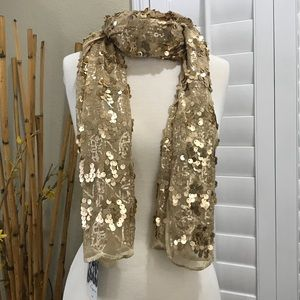 Cejon Women's Wrap Scarf Gold New